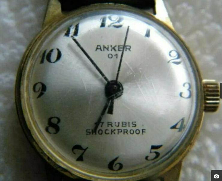 Anker 01 - Armbanduhr - 17 Rubis - Schockproof - Mech.Handaufzug