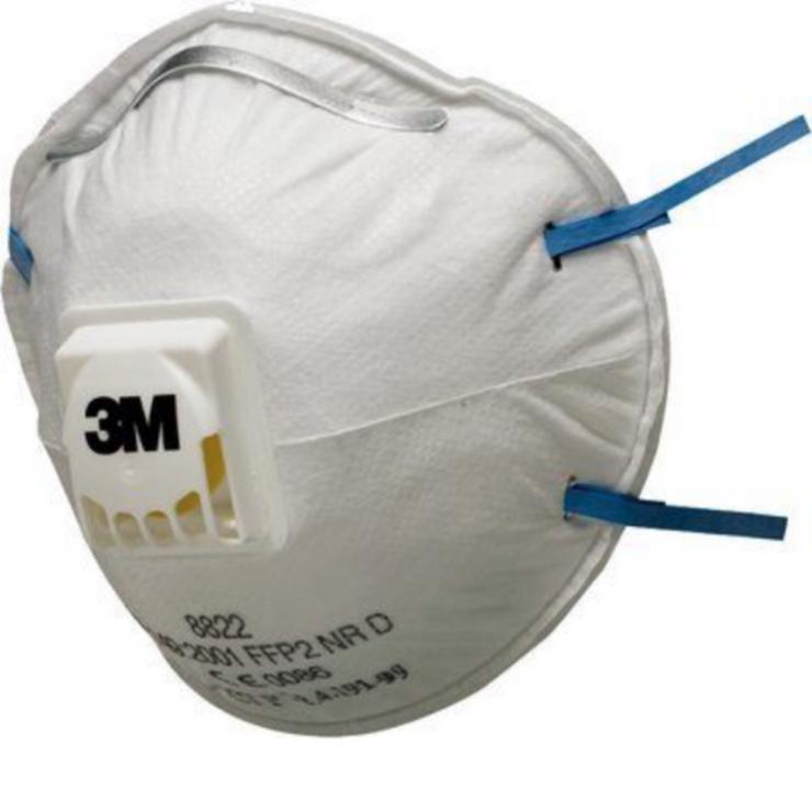 3M™ 8822 FFP2 Atemschutzmaske mit Ventil Mundschutz gegen Bakterien/Viren