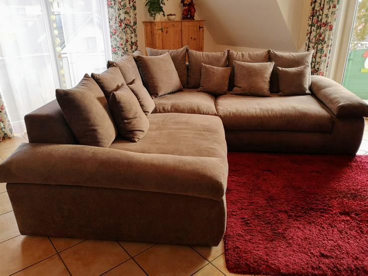 Wohnlandschaft Casablanca, Eckcouch, Farbe Taupe  - Sofas & Sitzmöbel - Bild 1