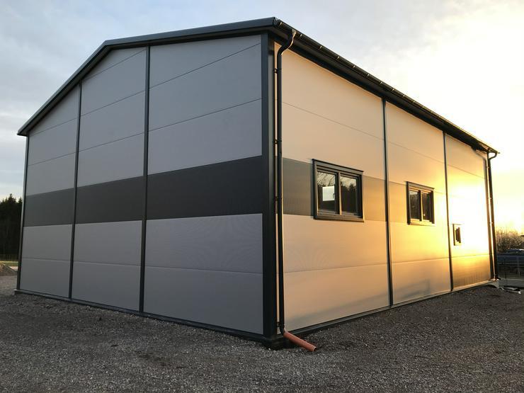 Bild 3: Stahlhalle Werkstatthalle Gewerbehalle Mehrzweckhalle mit Beurobereich
