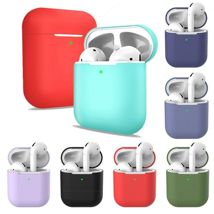 Schützhülle für Apple AirPods Kopfhöherer • ab 11.99€ • Case Sillicone Skin Schutz Hülle