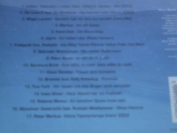 Bild 6: HÜTTENKULT die Tritte    CD 1  garantiert pistensau geprüft