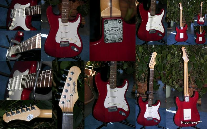 Verkaufe E-Gitarre von Stagg S300 * Stratocaster* in rot