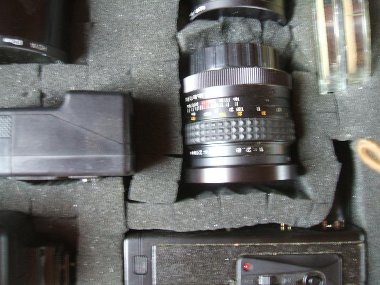 """Bild 4: Spiegelreflexkamera der Marke """"Yashica FR 1""""an. Mit viel Zubehör im Alukoffer!"""