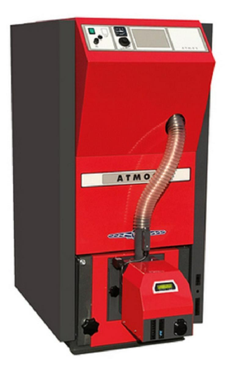 1A Atmos Pelletkessel PAKET PX 25 + Vorratsbehälter + Schnecke + Pufferspeicher