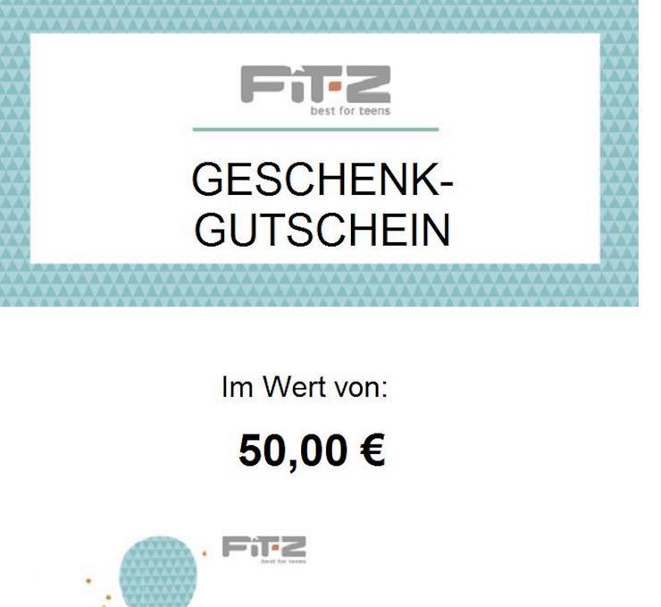 Wertguteschein FIT-Z im wert von 50 euro
