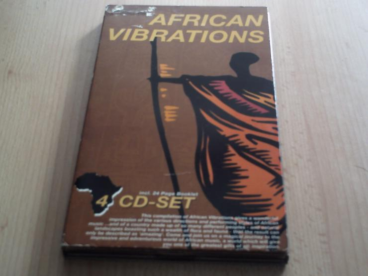 """Original Africen Tribal Music  """"AFRICAN VIPRATONS""""  4 CD-Set mit 82 Songs + 4 Bonus Track incl. 24  Page Booklet"""