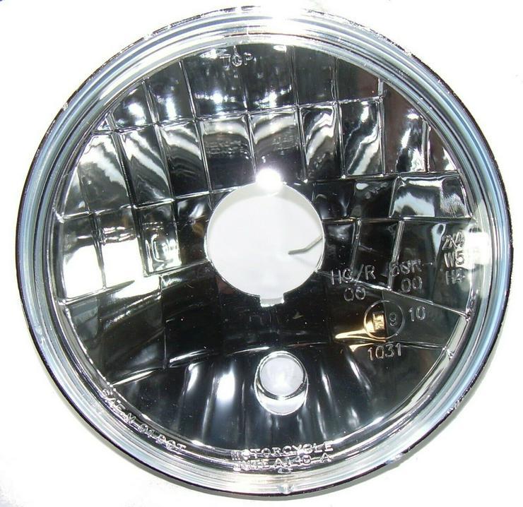 """5 3/4"""" Klarglas Reflektor Scheinwerfer Lampeneinsatz H4 NEU HARLEY Motorrad"""