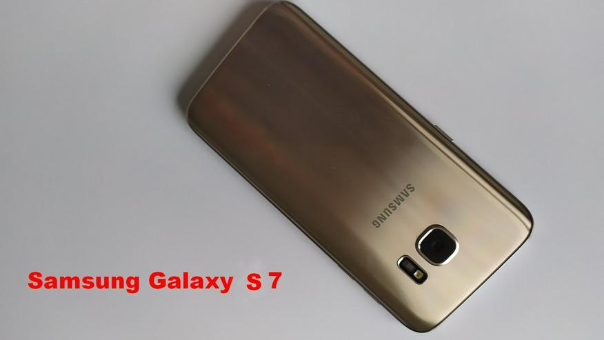 Samsung Galaxy S7 Gold Platinum in OVP Simlock-frei + branded Hülle!