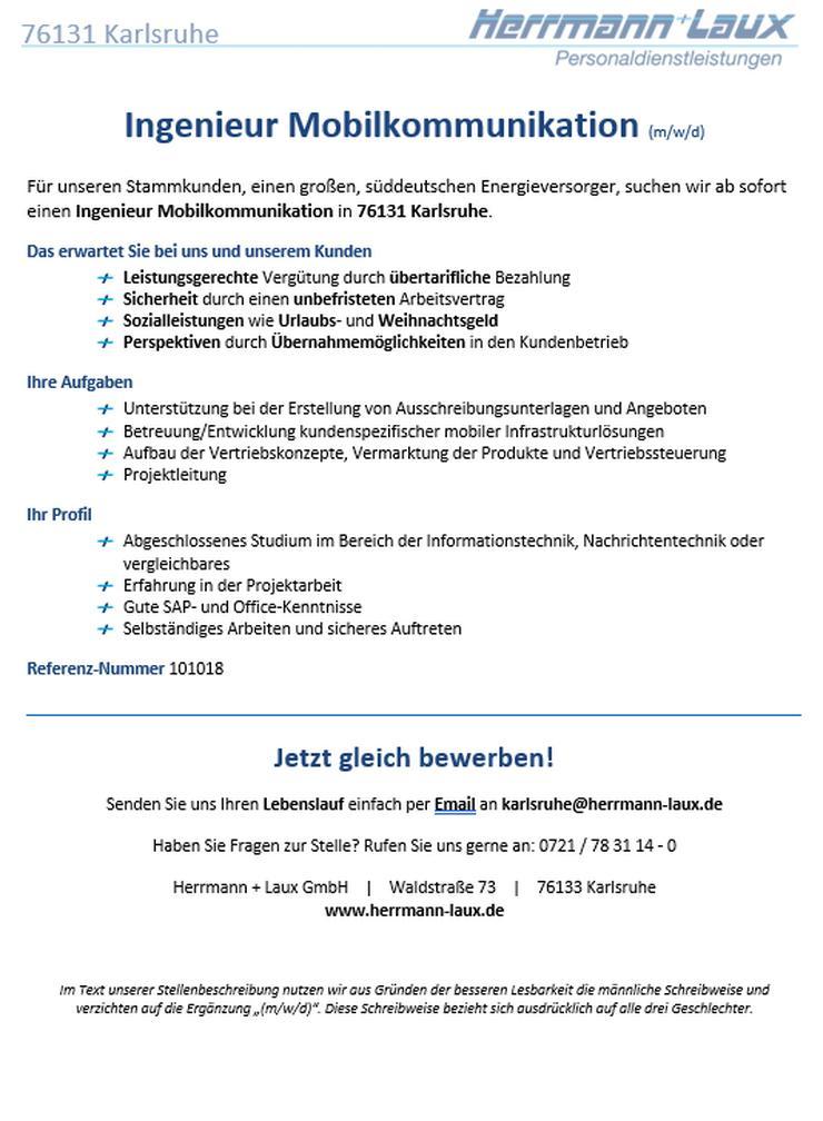Ingenieur Mobilkommunikation (m/w/d)