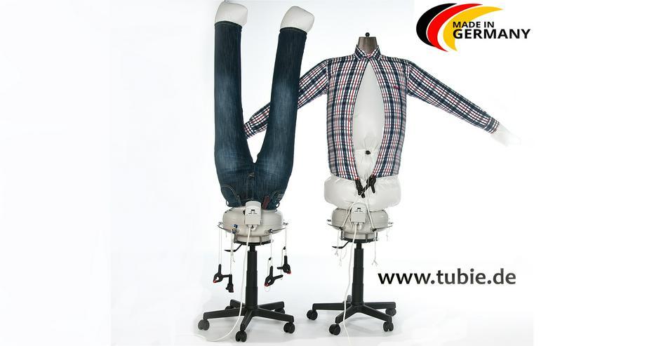 Hemdenbügelmaschine TUBIE erleichtert Ihnen das Bügeln