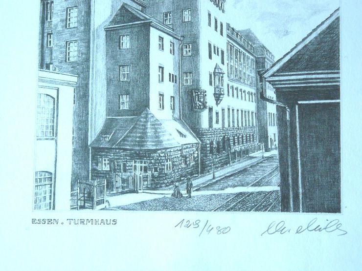 Bild 2: Essen Turmhaus feine alte Grafik (B077)