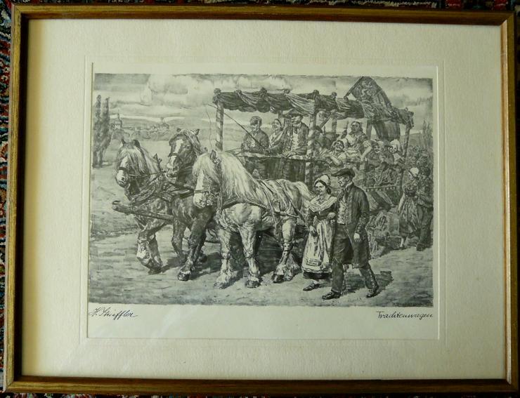Strieffler Heinrich Trachtenwagen Grafik (B078) - Poster, Drucke & Fotos - Bild 1