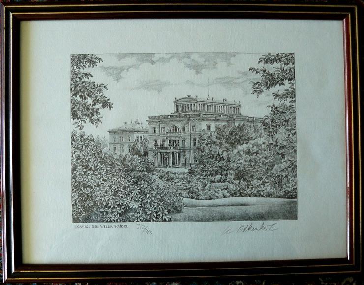 Villa Hügel Grafik von Werner Krawinkel (B080)
