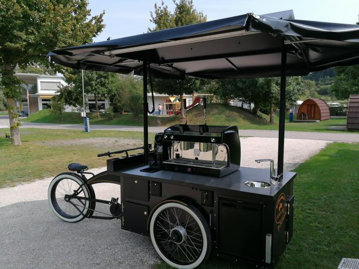 Kaffee E-bike mit vielen Extras