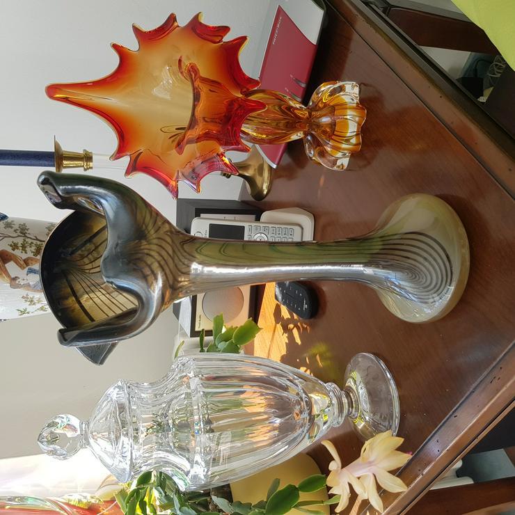 Studioglas Vase von Eisch