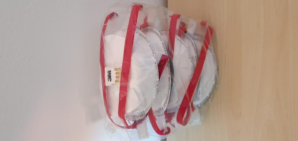 Bild 3: verschiedene Masken Mundschutz Atemschutz 3M Dräger FFP2 FFP3