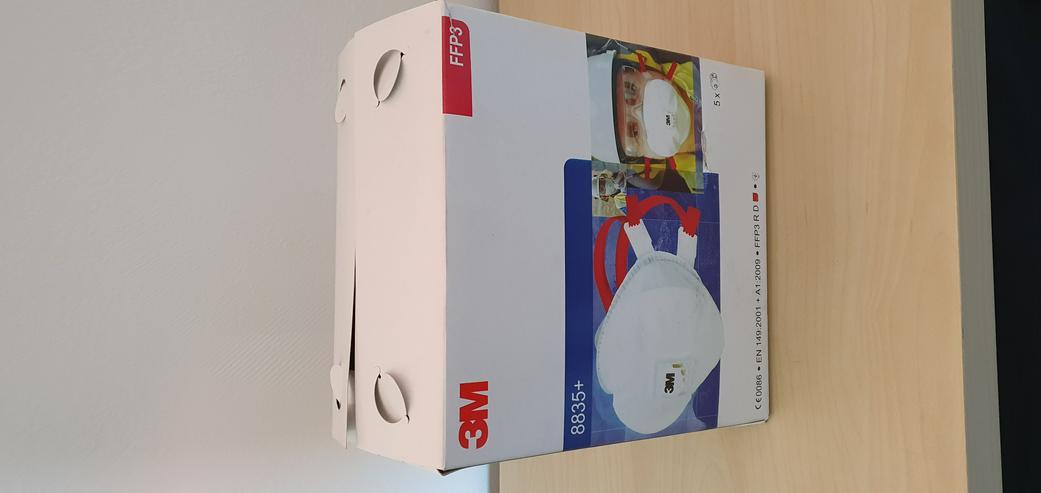 Bild 6: verschiedene Masken Mundschutz Atemschutz 3M Dräger FFP2 FFP3
