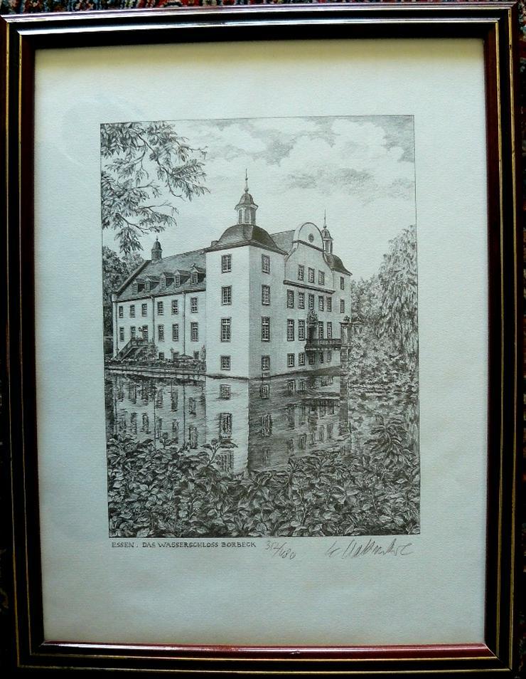 Wasserschloss Grafik von Werner Krawinkel (B081)