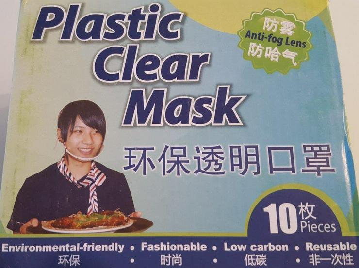 Klarplastik Maske