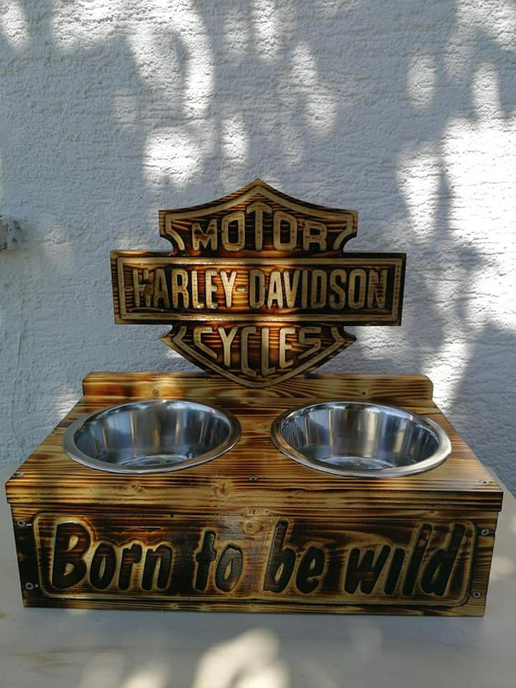Bild 2: Hunde Futter,-Wasserstation Harley Davidson - Neu.