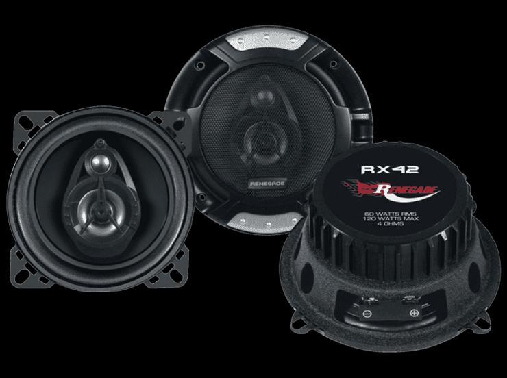 """4"""" 2-Way Full-Range Speakers Lautsprecher renegade rx42"""