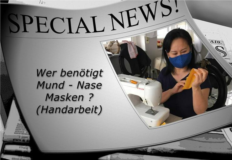 Community – Masken / Mund und Nasen Abdeckung dreilagig aus 100 % Baumwolle in Handarbeit - Weitere - Bild 1
