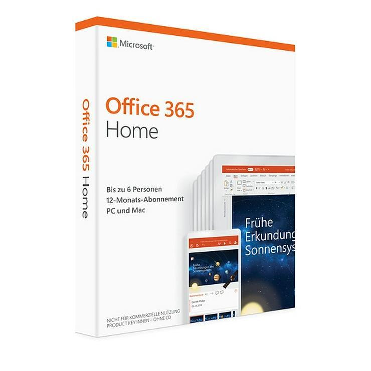 Microsoft Office 365 Home - 1 Jahr - 6 Benutzer - Unbenutzte Lizenz / Key