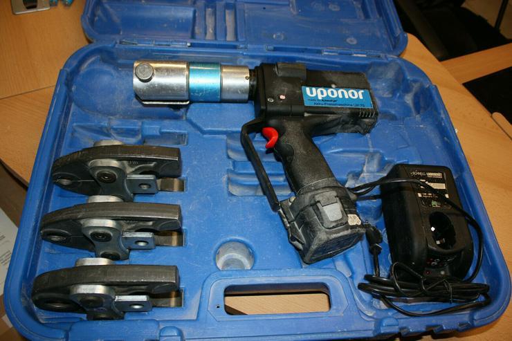 Klauke Uponor Unipipe Akku-Pressmaschine UP 75 Koffer mit Pressbacken 16 20 25