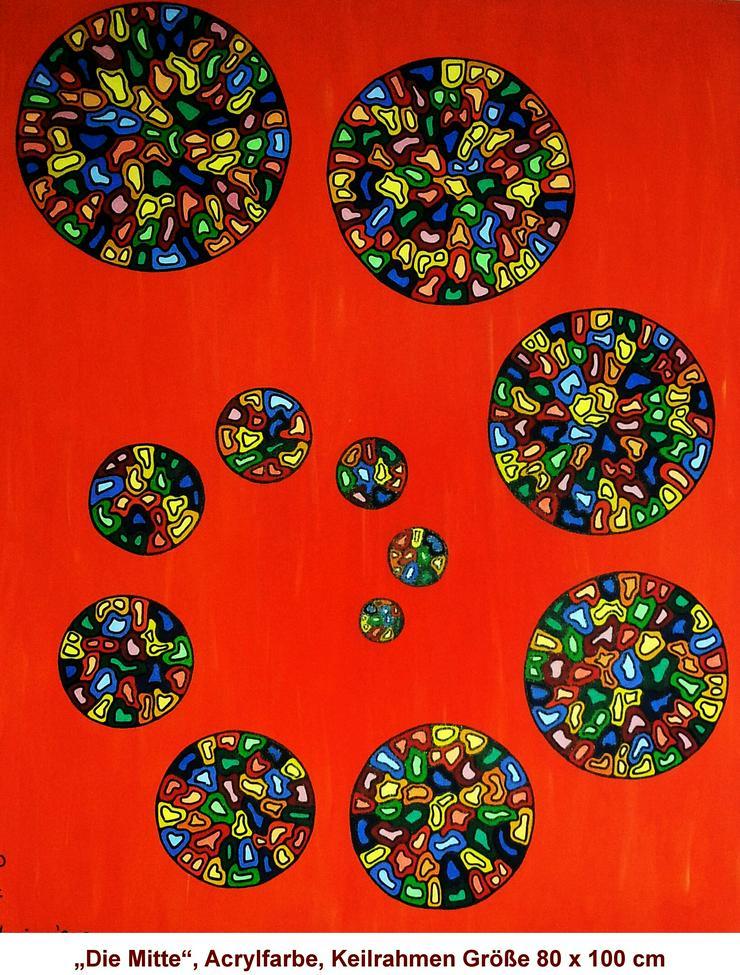 """#Gemälde #Kunstwerk """"Die Mitte"""" #Bild POP Art #Kunst - Gemälde & Zeichnungen - Bild 1"""