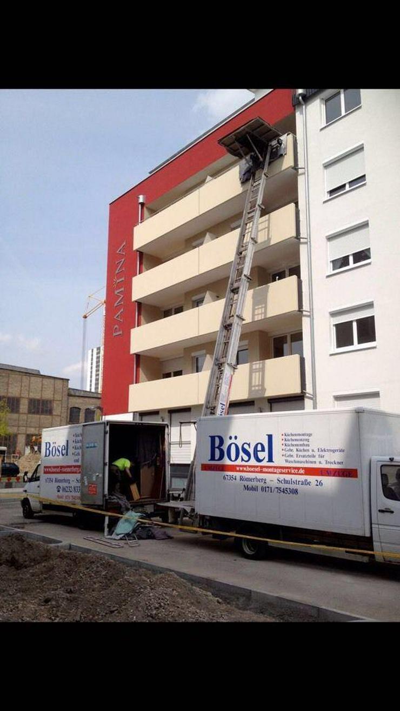 Bild 2: Aussenlift Möbellift Schrägaufzug Schwerlastlift  Bösel Römerberg
