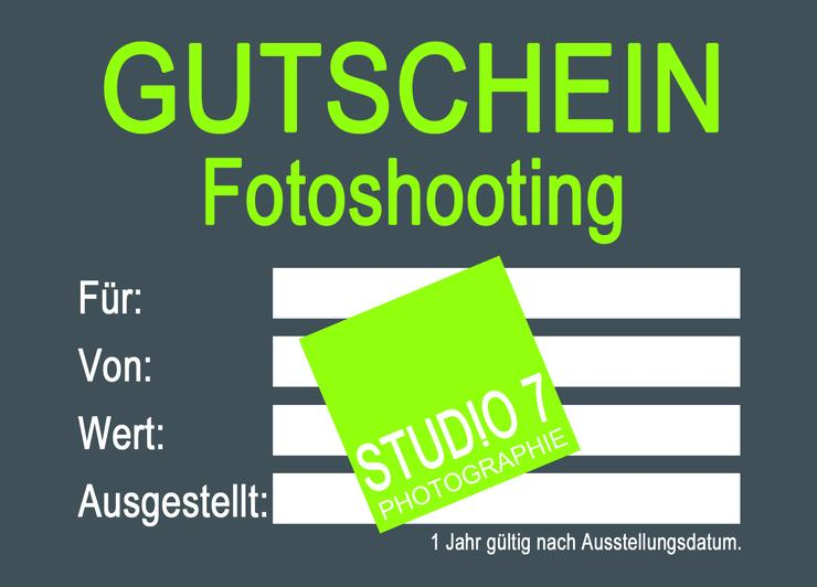 Gutschein Fotoshooting, tolles Geschenk