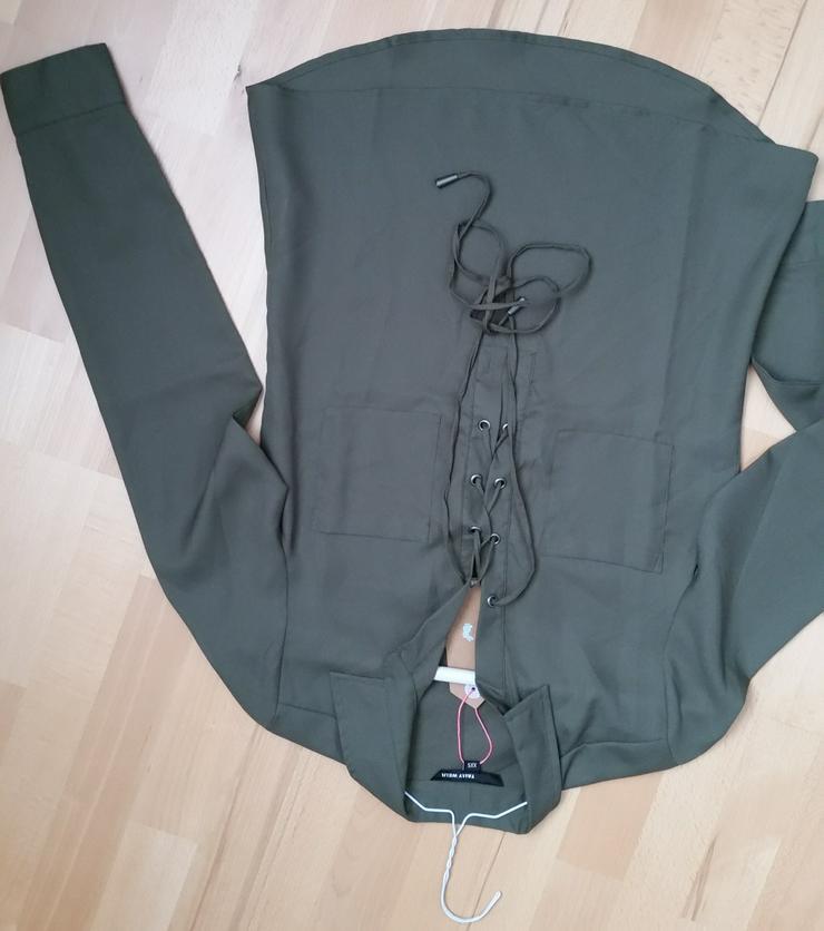 Bluse, Größe XXS, eher XS, neu, dunkelgrün - Größen 32-34 / XS - Bild 1