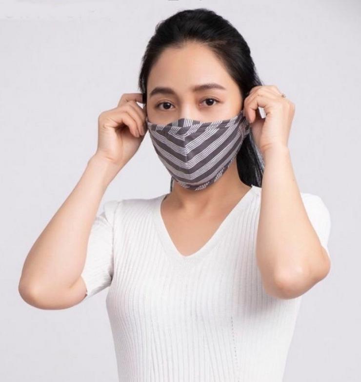 Mund- und Nasenmaske/ Behelfsmaske aus Baumwolle (2-lagig), waschbar und wiederverwendbar.     Mund & Nasenmaske aus Baumwolle für Unternehmen &Shops/Läden/Kiosk