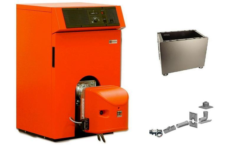 Ratioline BW Öl Brennwert Kessel 12 - 25 kW Intercal + Abgas - Ölheizung - Bild 1