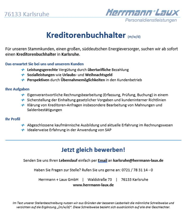 Kreditorenbuchhalter (m/w/d)