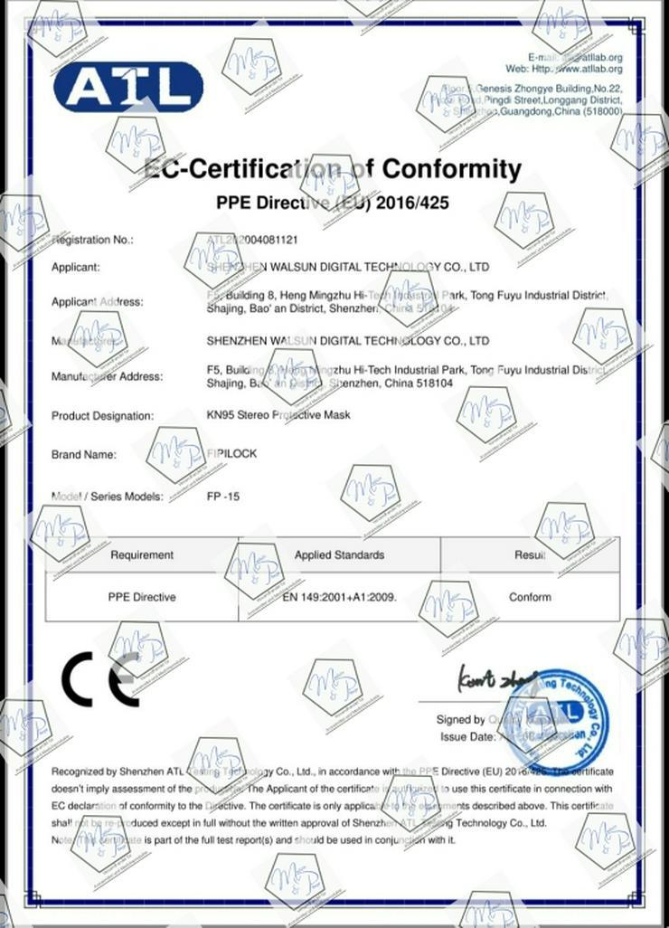 Bild 3: Zertifizierte FFP2 Masken, KN95, NUR NOCH 10.000 Stück