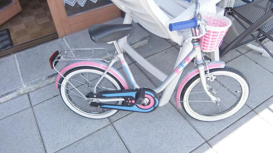 Kinderfahrrad 16 Zoll von Moly silber rosa Mädchenrad Versand möglich
