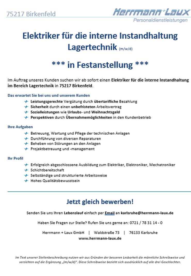 Elektriker für die interne Instandhaltung Lagertechnik (m/w/d) *** in Festanstellung ***