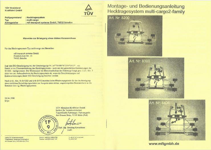 Bild 2: Heckträgersystem multi-cargo2