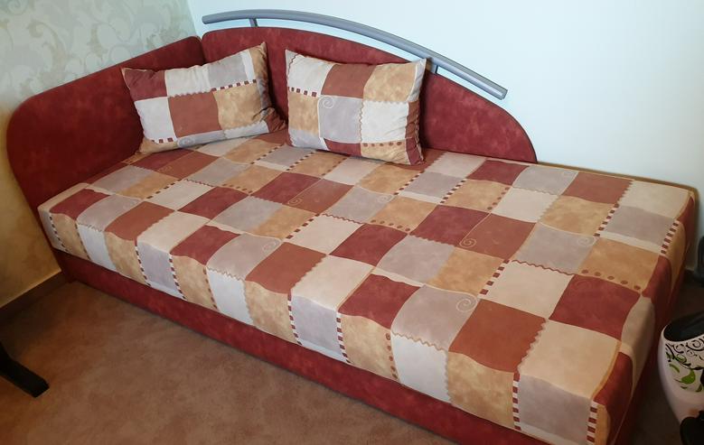 Liegesofa, Schlafcouch, Gästebett, Bett, Couch, Sofa - WIE NEU!