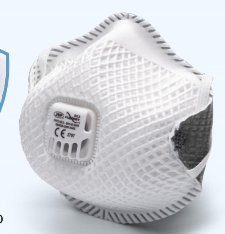 Bild 2: JSP FFP2 Atemschutzmaske FFP2 Flexinet 822 mit Ventil im Stück