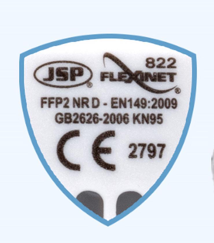 Bild 3: JSP FFP2 Atemschutzmaske FFP2 Flexinet 822 mit Ventil im Stück
