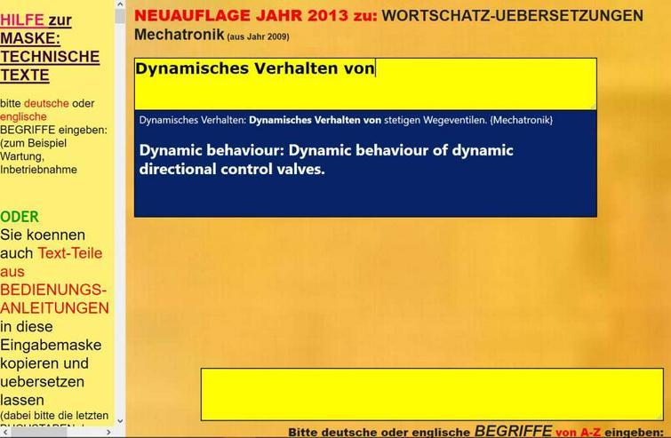Bild 6: deutsch-englisch Uebersetzer: Verwendung, Wartung und Instandsetzung der Maschine