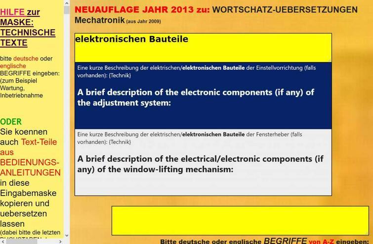 Bild 5: deutsch-englisch Uebersetzer: Verwendung, Wartung und Instandsetzung der Maschine