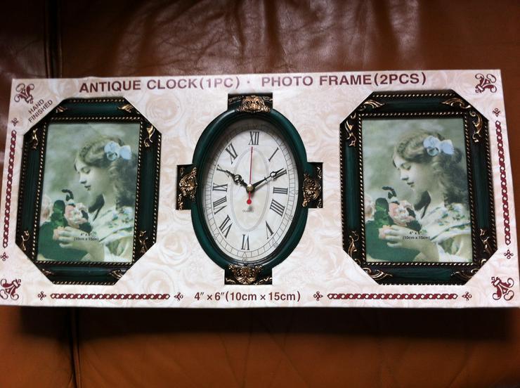 Uhr und Bilderrahmen - Bilderrahmen - Bild 1