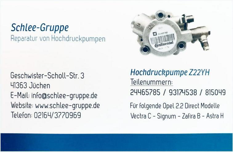 OPEL HOCHDRUCKPUMPE Z22YH Vectra C Signum Zafira B 2.2 Direct GM 93174538 24465785