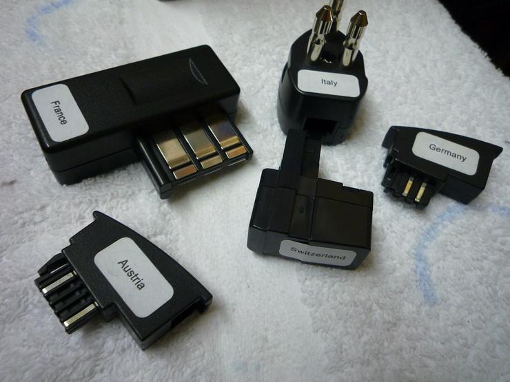 Telefonstecker-Adapter Set international
