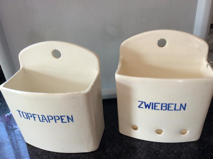 Keramikbehälter für Topflappen und Zwiebeln