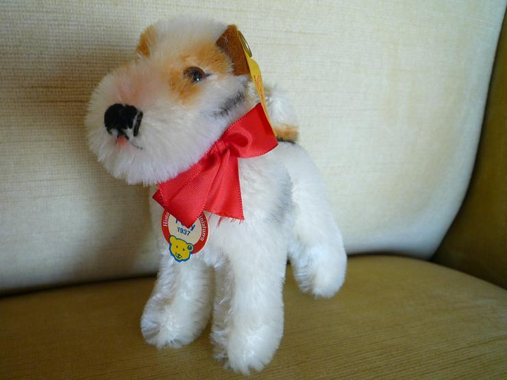 Steiff-Tier Hund Foxy 1937Replika